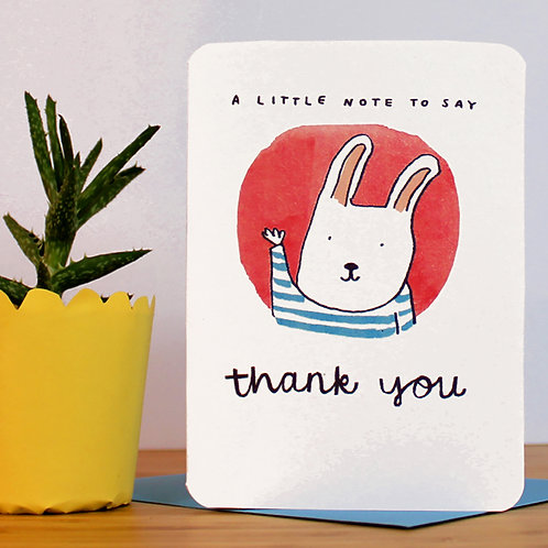 A LITTLE THANK YOU NOTE CARD