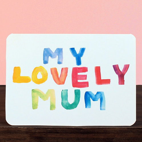 MY LOVELY MUM CARD x 6