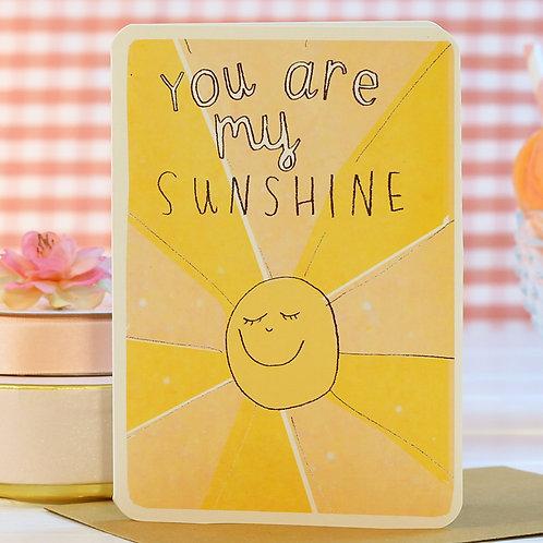 YOU ARE MY SUNSHINE CARD x 6