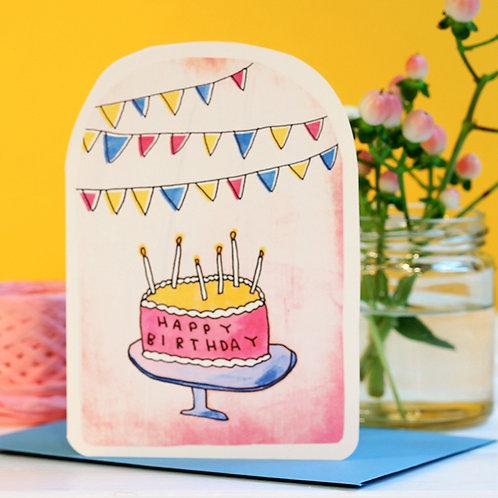 BIRTHDAY CAKE CARD x 6
