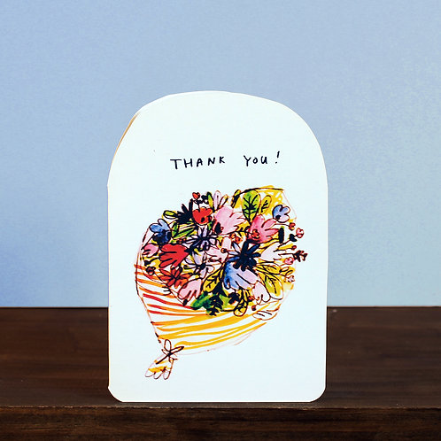 THANK YOU BOUQUET CARD x 6
