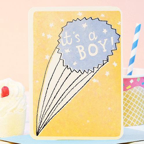 IT'S A BOY STARBURST CARD