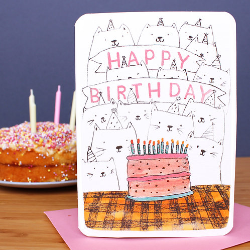 CATS AND CAKE CARD
