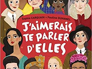 """Le nouveau livre pour enfants de mon amie Sophie Carquain """"J'aimerais te parler d' elle"""