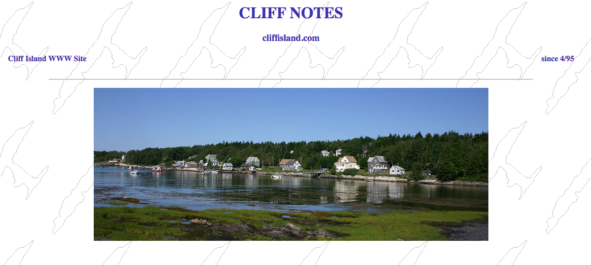 Cliff Island Web Page