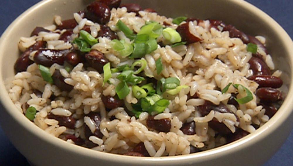 Рис с красной фасолью