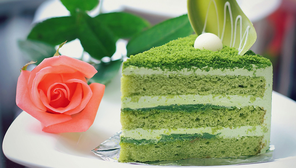 Торт с зеленым чаем