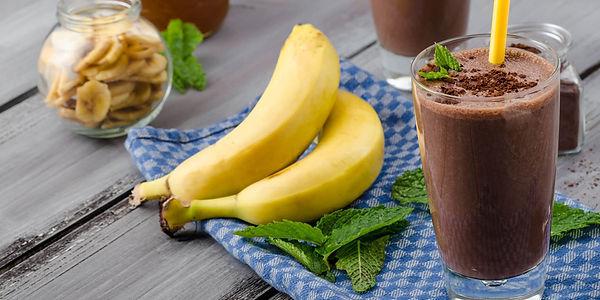 Полезное какао, банан, смузи