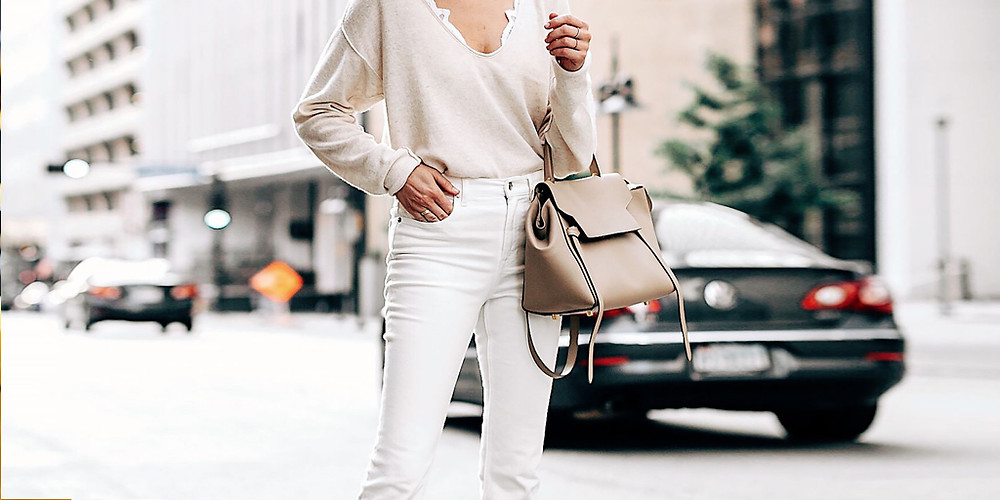 Советы по стилю, с чем носить белые джинсы - белый джинсовый наряд