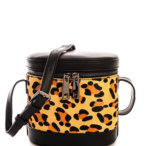 Faux Leather Leopard Camera Bag