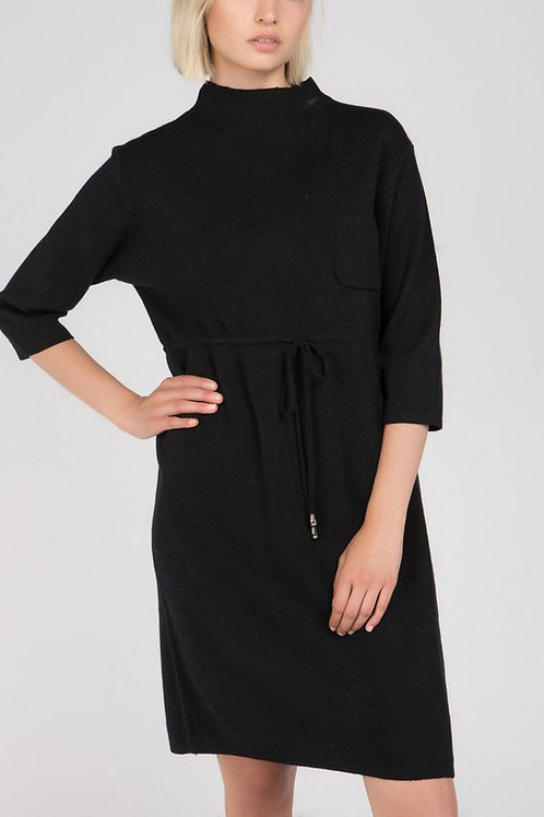 The PERFECT Minimalist Black Sweater Dress