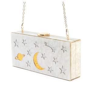 Over The Moon Shooting Star Box Clutch