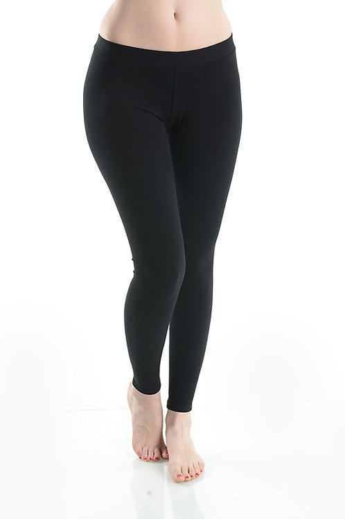 Micro Modal Essential Black Leggings
