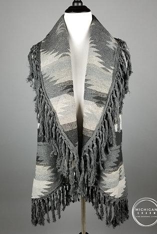 Southwestern Fringe Sweater Vest