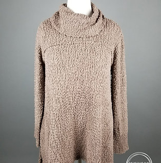 Cozy Cowl Neck Knit Mocha Sweater
