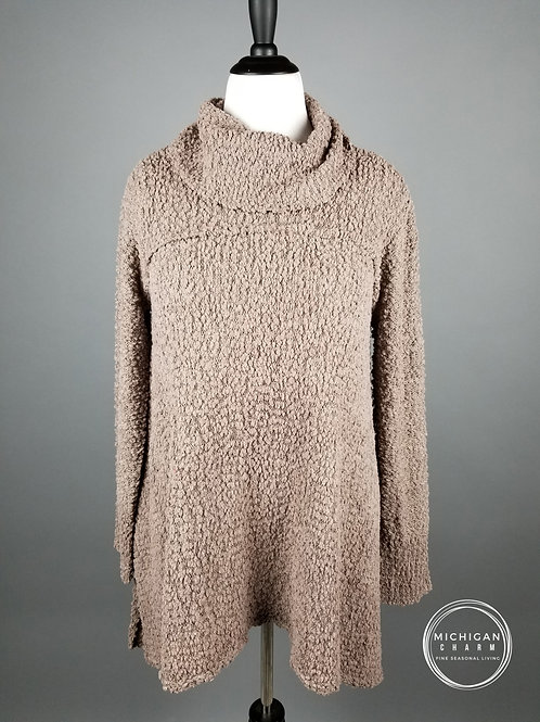 Cozy Cowl Neck Knit Mocha Sweater