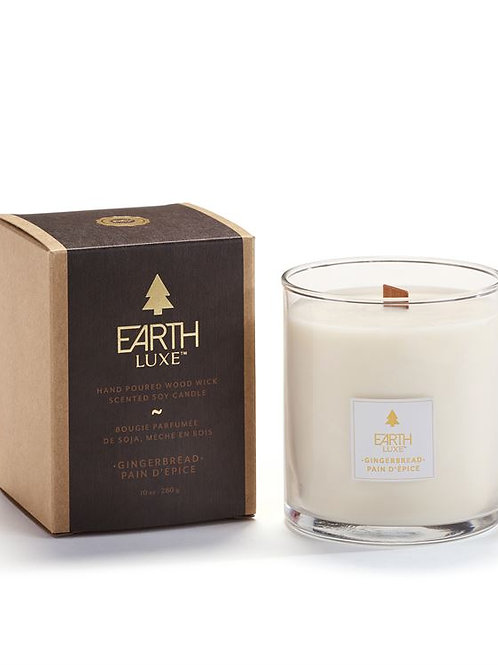 Earth Luxe Wood Wick Candle - Gingerbread