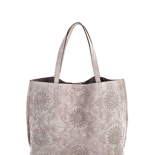 Faux Leather Dreamy Textured Tote Bag