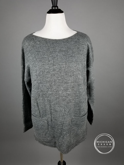 Charcoal Pocket Tunic Sweater