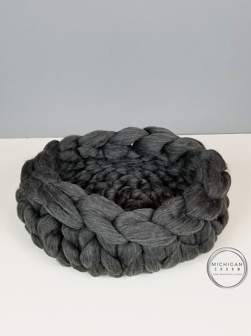 Hand Knitted Wool Cat Bed