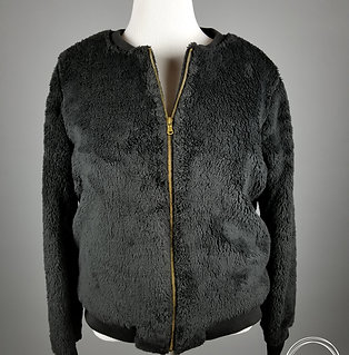 Faux Fur Black Bomber Jacket - Ahhh!