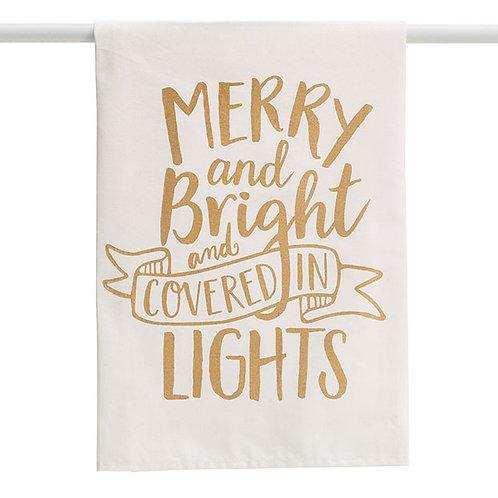Merry & Bright Holiday Tea Towel