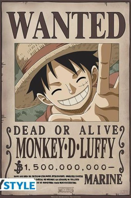 Poster Wanted Luffy New 2 (52x38cm)
