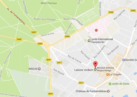 Maps Magna Manga 56 rue de France 77300 Fontainebleau