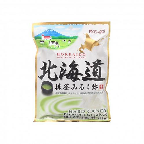 Bonbons (caramel) Matcha Hokkaido Kasugai 81g