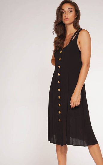 Dex Button Down Midi Dress