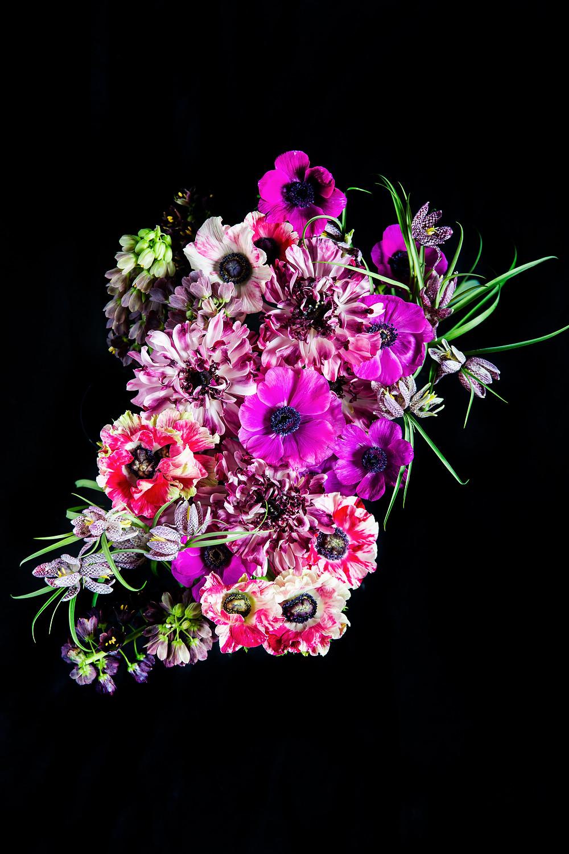 ranunculus, anemones, fritteleria