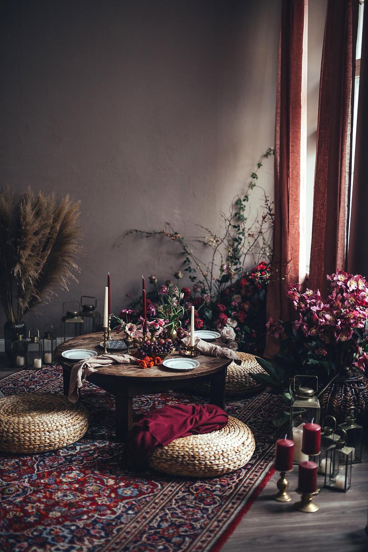 mediterranean breakfast setting