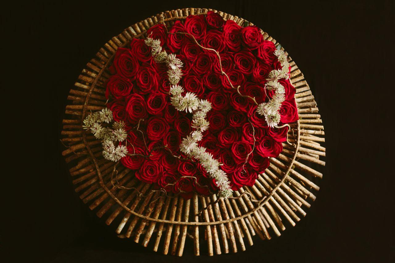 floral art roses