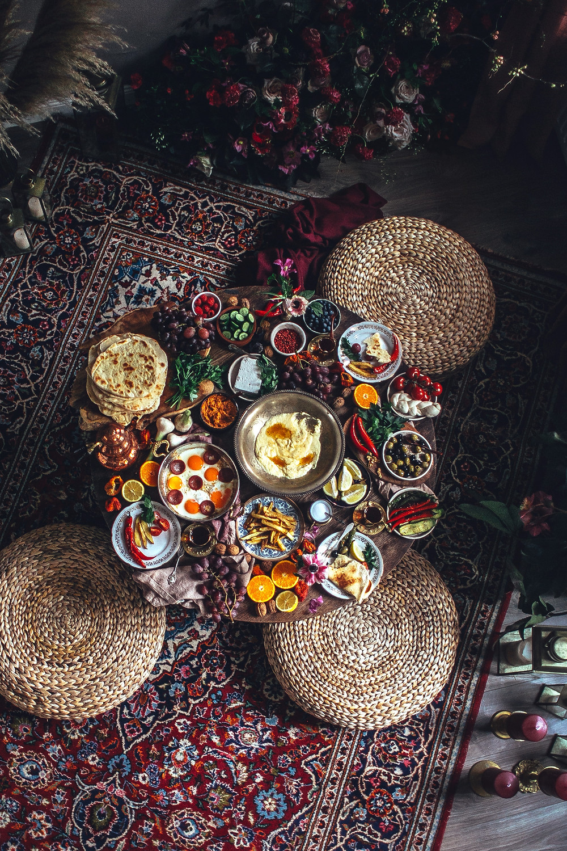 mediterranean breakfast set-up