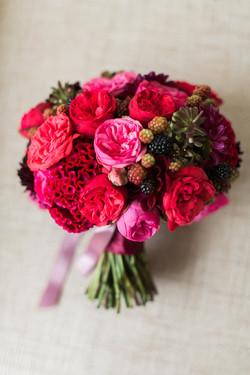 berry bridal bouquet