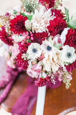 dahlia anemone bouquet