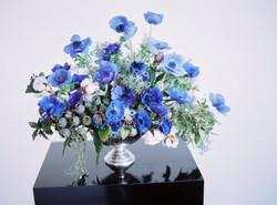 blue anemone arrangement