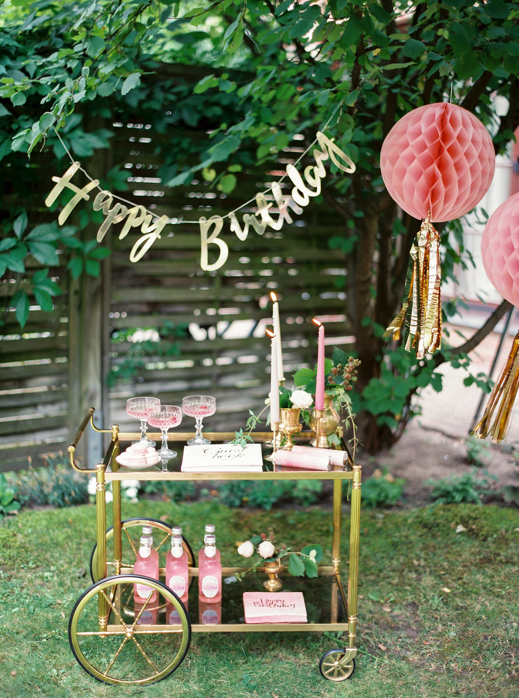 Birthday Bar Cart