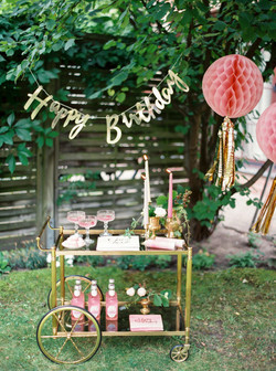 Birthday Bar Cart