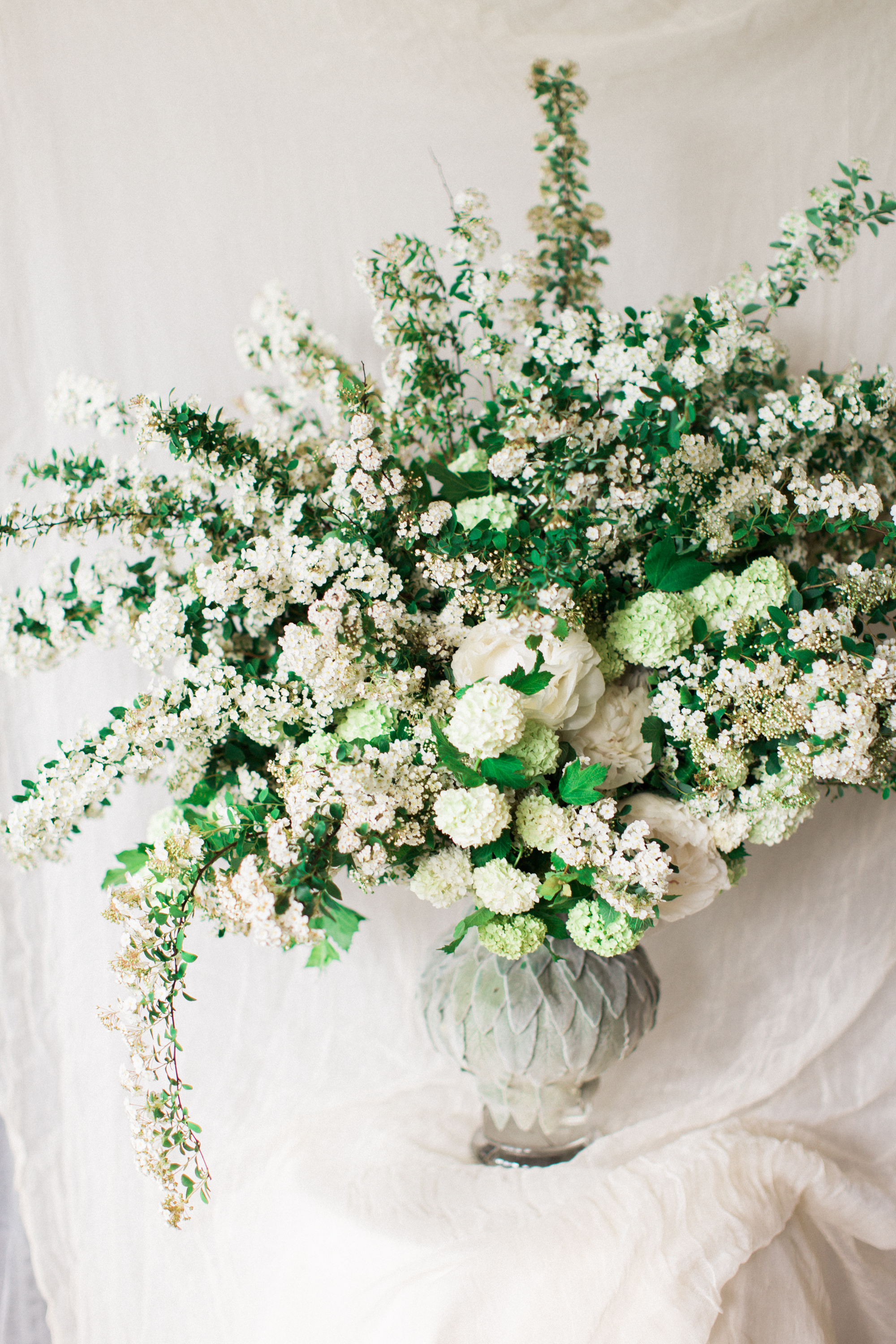 spirea floral arrangement