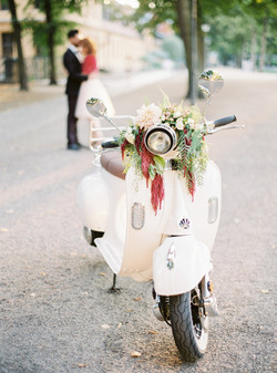 moped flowers