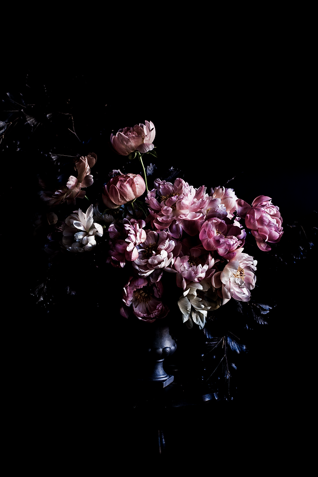 Peony arrangement, flower photography, peonies