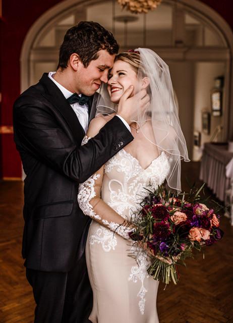 Wedding flowers, Bridal Bouquet in jewel tones