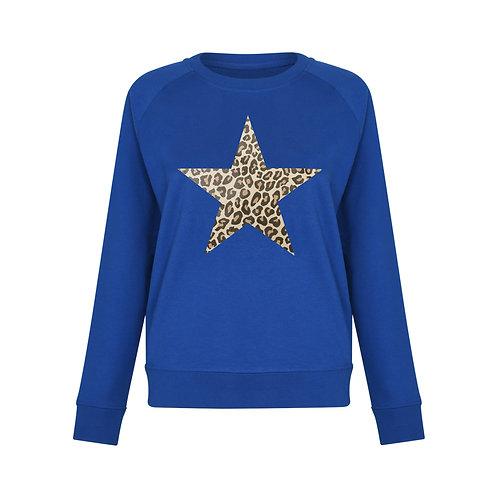 ELECTRIC LEOPARD STAR SWEATSHIRT
