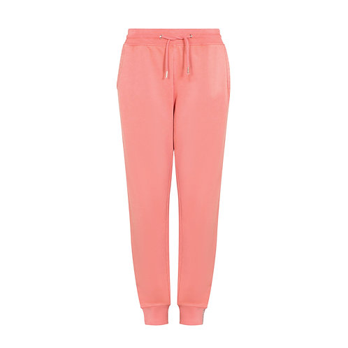 PARADISE PALM TRACK PANT WASHED CORAL ORGANIC COTTON