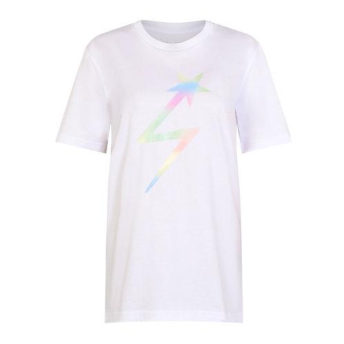 DREAMSCAPE LIGHTNING STAR T-SHIRT WHITE ORGANIC COTTON