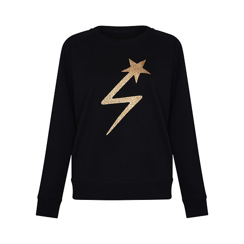 GOLDUST LIGHTNING STAR SWEATSHIRT BLACK