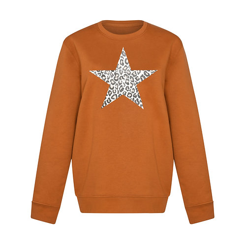 SPICED LEOPARD STAR SWEATSHIRT
