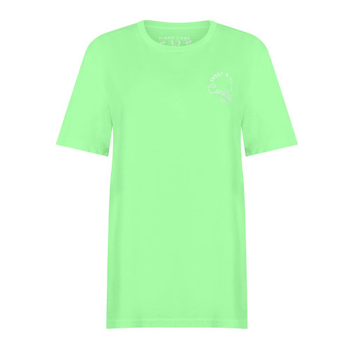 COCKTAIL HOUR T-SHIRT WASHED FLURO APPLE ORGANIC COTTON