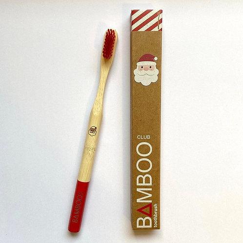 CHRISTMAS BAMBOO CLUB TOOTHBRUSH ADULTS